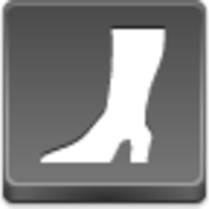 Free Grey Button Icons High Boot Image