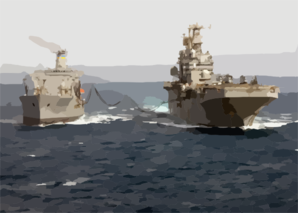 Uss Tarawa (lha 1) Receives Fuel During An Underway Replenishment With The Military Sealift Command (msc) Oiler Usns Yukon (t-ao 202) Clip Art
