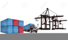 Container Terminal Clipart Image
