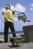 Sh-60b Leaves Deck Of Ship Image