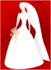 Bride Wearing Gown Clip Art