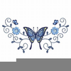 Butterfly And Cross Clipart Image
