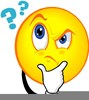 Questioning Smiley Clipart Image