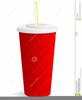Cup With Straw Clipart Image