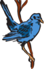 Blue Bird Perched Clip Art