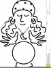 Gypsy With Crystal Ball Clipart Image