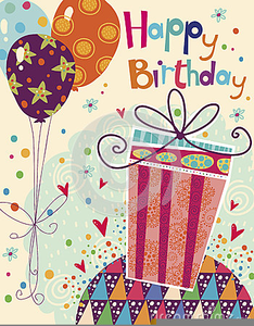 Happy Birthday Card Clipart Free Images At Clker Com Vector Clip
