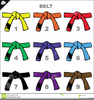 Free Martial Arts Belt Clipart Image