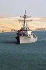 The Guided Missile Destroyer Uss Mitscher (ddg 57) Transits The Suez Canal Image