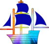 Rainbow Sailing Ship Image