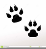 Animal Paw Prints Clipart Image