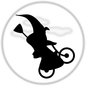Witch On Bicycle Clip Art