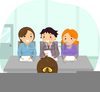 Clipart Of Panel Interview Image