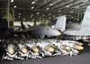 Dozens Of Bombs Line The Hangar Bay Aboard Uss Constellation (cv 64) Ready For Use In Support Of Operation Iraqi Freedom Image