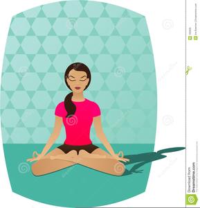Yoga Meditation Clipart Image