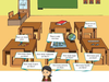 Teacher In Classroom Clipart Image