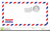 Airmail Envelope Clipart Image