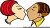 Free Animated Kissing Clipart Image