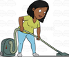 Cartoon Vacuum Cleaner Clipart Image