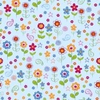 Doodle Flowers Seamless Repeat Pattern Vector Illustration Image