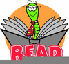Reading Record Bookworm Clipart Image