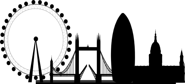 london skyline blank and white clip art at clker - vector clip