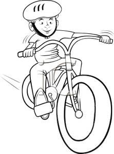 Free Clipart Of Kids Riding Bikes