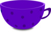 Purple Tea Cup Clip Art