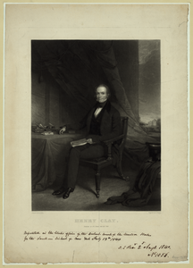 Henry Clay  / Painted By G. Linen ; Engraved By J. Sartain. Philada. Image