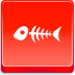 Free Red Button Icons Fish Skeleton Image
