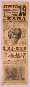 The Great Kara, The Mystery Man From India And His $50,000 Production Of Oriental-splendor Supported By A Company Of Select Entertainers. Image