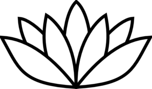 Black Thick Lotus Clip Art