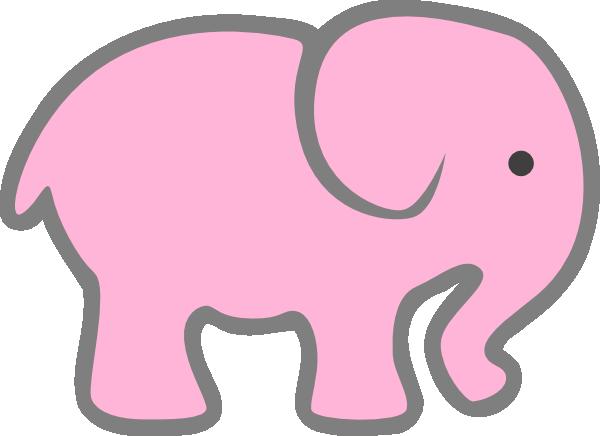Pink Elephant C... Elephant Printable Clipart