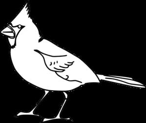 Cardinal Outline Clip Art at Clker.com - vector clip art online ...