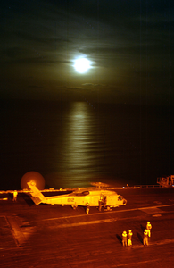 Plane Guard Refuels On Flight Deck Cvn 74 Image