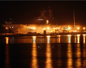 The Amphibious Assault Ship Uss Essex (lhd 2) Sits Moored Pierside. Image