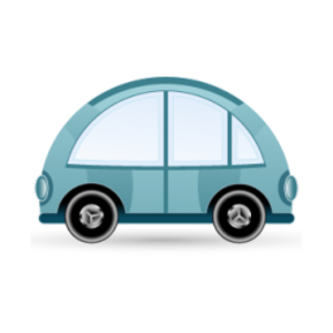 Car Blue Icon Image