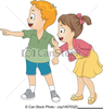Little Girl Looking Up Clipart Image