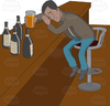 Bar Drinking Clipart Image