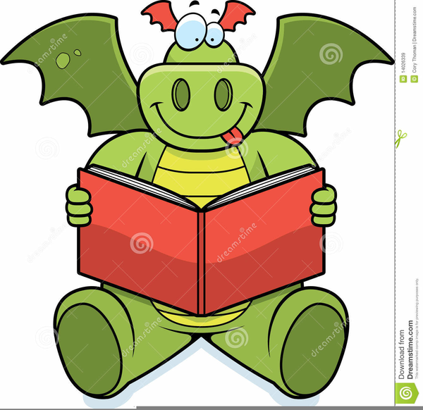 dragon reading a book clipart free images at clker com vector rh clker com Girl Reading Clip Art clipart reading dragon