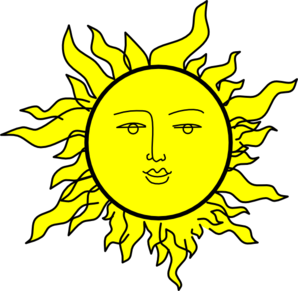 sun with a face by rones clip art at clker com vector clip art rh clker com Sun Clip Art Happy Face Sun