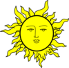 Sun With A Face By Rones Clip Art