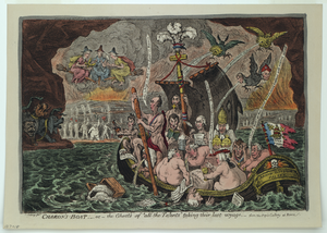 Charon S Boat - Or - The Ghosts Of  All The Talents  Taking Their Last Voyage, - From The Pope S Gallery At Rome  / Js. Gillray, Fec. Image