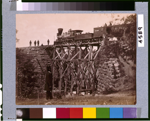Bridge On Orange & Alexandria [virginia] Railroad, As Repaired By Army Engineers Under Colonel Herman Haupt Image
