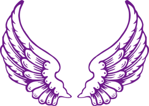 Purple Angel Wings Clip Art