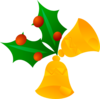 Christmas Bells (rotated) Clip Art
