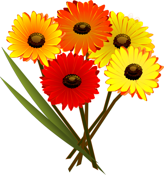 Red orange yellow flowers clip art at clker vector clip art download this image as mightylinksfo