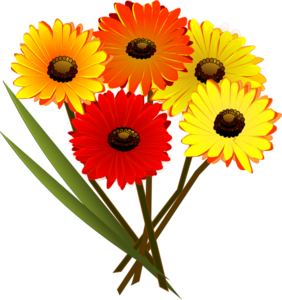 Red Orange Yellow Flowers Clip Art