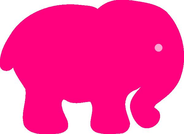 clip art pink elephant - photo #6