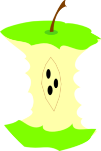 Green Apple Core Clip Art